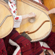 Ukraine girls play a musical stringed instrument — Photo