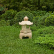 Garden decorative statue on green grass — Stock Photo