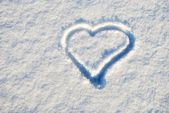 Snow a heart — Stock fotografie