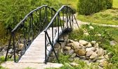 Bridge above the river — Stock Photo