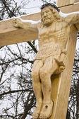 Wooden crucifix — Stock Photo