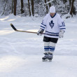 Unknown players on the ice — Stock Photo