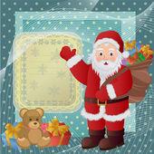 Santa Claus magic Christmas holidays — Stock Vector