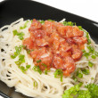 Spaghetti pasta with tomato sauce and sausage — Stock Photo #8197868