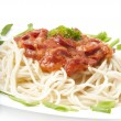 Close up of spaghetti — Stock Photo #8197869