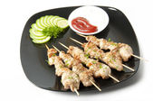 Kebabs from a chicken fillet — Stock Photo