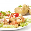 Salad and baked potato — Stock Photo #8224164