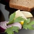 Bread and onion - Stock Photo