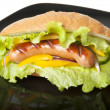 Sandwich with sausage — Stock Photo #8229891