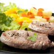 Steak with vegetables - Stock Photo