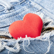 Heart in jeans — Stockfoto
