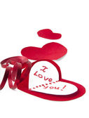 Stylized valentine hearts — Stockfoto