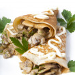Pancakes with mushrooms — Foto de Stock