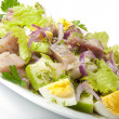 Herring salad, apples and eggs — Stock Photo