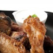 Grilled chicken wings — Stockfoto