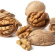 Walnuts on a white background — Stock Photo