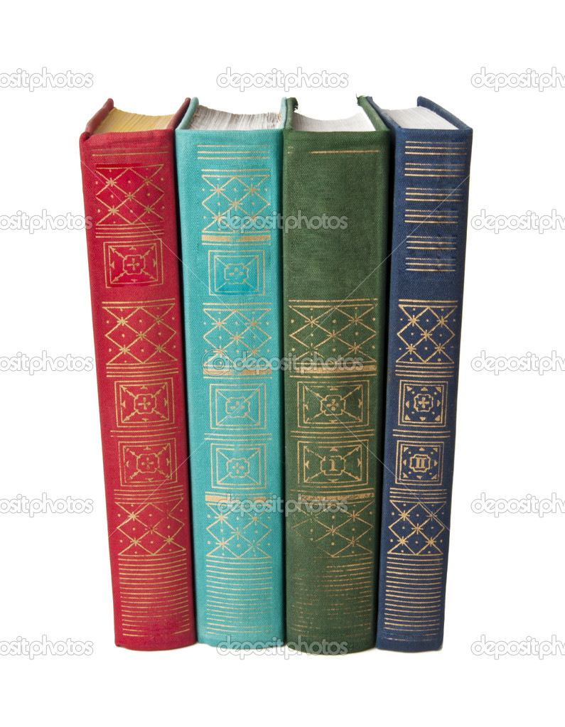 Old books against a white background  Stock Photo #9181353