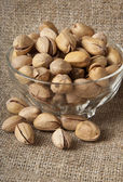 Cracked and Dried Pistachio Nuts — Stock Photo