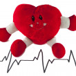 Stock Photo: Heart cardiogram