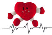 The heart cardiogram — Stock Photo