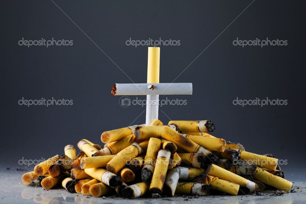 Photo of a heap of stubs in the form of a tomb — Stock Photo #9016222