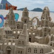 Sand Castle in Copacabana - Stock Photo