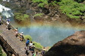 Rainbow and the bridge — Stock Photo