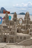 Sand Castle in Copacabana — Stock Photo