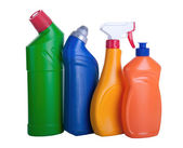 Assorted household cleaning products — Stock Photo
