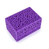 Violet velvet gift box — Stock Photo