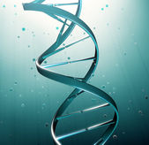 DNA strand iluustration - genetic research — Stock Photo