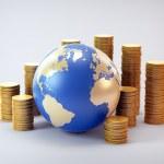 Global finance industry concept illustration — Stock Photo