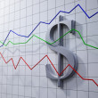 Stock Photo: Forex trading concept illustration- dollar rating chart