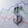 Forex trading concept illustration- dollar rating chart — Stock Photo