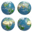 Four views of the Earth — Stock Photo