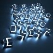 Abstract glowing cubes — Stock Photo