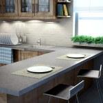 Modern kitchen interior view — Stock Photo