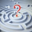 Question mark inside a maze — Stock Photo