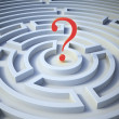 Stock Photo: Question mark inside a maze