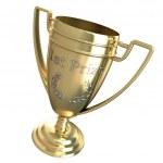 první cenu trophy — Stock fotografie