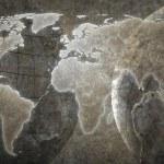 Grunge World map background — Stock Photo