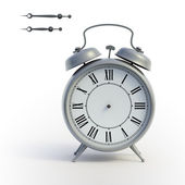 Classical alarmclock with isolated hands — Stock Photo