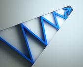 Blue 3D arrow — Стоковое фото