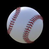 Baseball isolated on a black background — Stock Photo