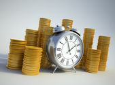 Time is money concept image — Stok fotoğraf