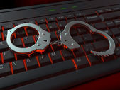 Internet crime illustration — Stock Photo