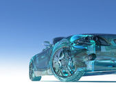 Glass car — Stock Photo