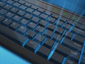 Svítící klávesnice — Stock fotografie