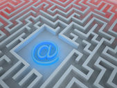 Maze depicting web security issues — Stock Photo