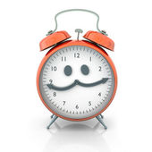Alarm clock character — Stock Photo